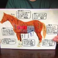 【馬の各部位取り揃え】新鮮な馬肉を堪能できる!