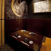 かつて天下を統一した徳川家康の間でございます。お部屋の中には徳川家の家紋と徳川15代の家系図が飾られており、また関ヶ原の間の中でもこあがりの個室で、まさに天下の間でございます。