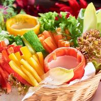 新鮮な野菜でシュラスコを優しく包み♪