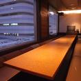 大船の夜景の見える10名様用の完全個室席。完全個室なので、他のお客様の視線も気になりません