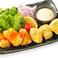 高野豆富の唐揚げ2種の味食べ比べ