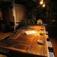 会社帰りにちょこっと飲みたいときに最適なテーブル席。