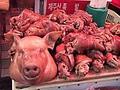料理メニュー写真豚足辛味和え/豆腐キムチ/牛スジと大根煮込み/韓国岩海苔和え