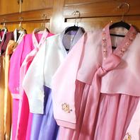韓国民族衣装(チマチョゴリ)で記念撮影も♪