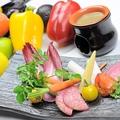 料理メニュー写真有機野菜のスティックサラダ バーニャカウダー