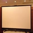 【設備1】プロジェクタースクリーン。設備全て無料で使用可★ 【平日限定】
