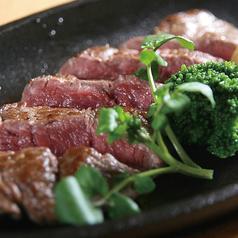 料理メニュー写真牛サガリの鉄板ステーキ