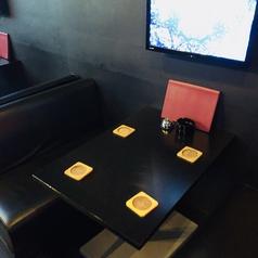2次会のカラオケやにもピッタリ!!各テーブルにはモニターもついてます!
