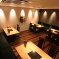 16名様まで入って頂ける個室です。団体様や会社の集まりに最適です。