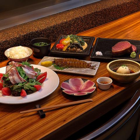 九州産黒毛和牛のシャトーブリアンと季節の糸島野菜を味わうコース 6,600円