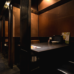 2名様半個室!デートや記念日でのご利用に人気です。また、カジュアルな接待などビジネス利用にも◎