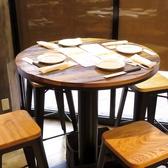 円テーブルでの視界も最高!スタイリッシュに楽しもう!