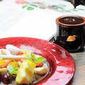 料理メニュー写真フランス産チョコレート フルーツフォンデュ