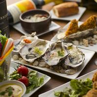【飲み放題付き】牡蠣・逸品料理とお酒を気軽に堪能♪