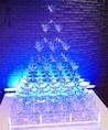 結婚式二次会や貸切パーティもおもお店がフルサポート!◆パーティ特典例3:華やかなシャンパンタワーで演出!