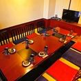 【4~6名様宴会にも最適】のお席をご用意いたします。飲み放題付きコースは4500円~。