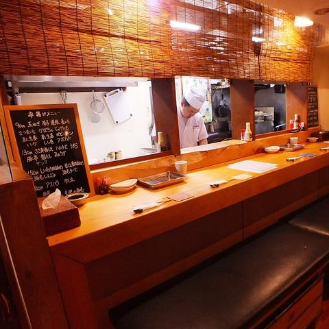 新鮮な野菜・魚介・お肉を、一本一本手作りで揚げる串焼きのお店。