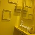 オシャレな黄色いトイレ!