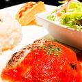 料理メニュー写真ハンバーグのoriginalトマト&チーズソースプレート