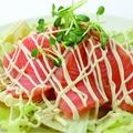 料理メニュー写真サーモンのカルパッチョ/たこのカルパッチョ