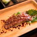 料理メニュー写真本日の肉寿司※3種よりお選びいただけます。