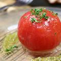 料理メニュー写真まるごとトマトの和風マリネ
