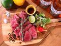 料理メニュー写真最高級A5ランク黒毛和牛の炭焼きステーキ
