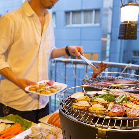 【肉祭りBBQ+飲み放題】準備&片付け無し! 手ぶらでOK♪平日は3h飲み放題→3500円