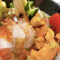 本日のむっく海鮮夢の欲望丼ぶり ボタン海老生うにいくら旬魚五種