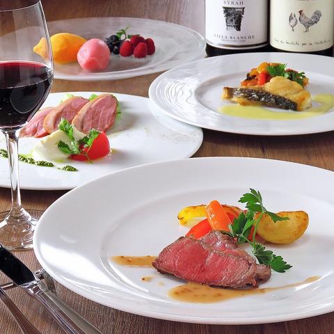 1皿、ワイン1杯からでも気軽に入っていただけるアットホームなフランス家庭料理です。