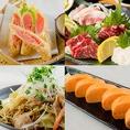 バリエーション豊富な逸品料理◆焼き餃子・どんぐりたまごのだし巻きたまご・明太レンコンなど、数多くの逸品料理をご提供しています。