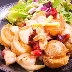 料理メニュー写真たことポテトの柚子ガーリック炒め