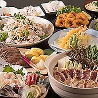 肉or魚介から選べる絶品鍋付き御宴会コース3980円~