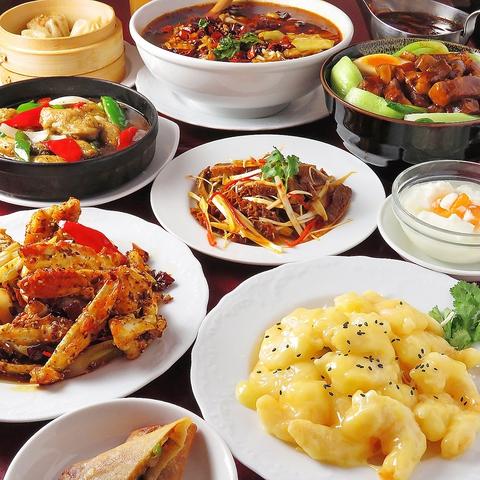 多彩なコースと100種以上の料理で本格中華をお手軽価格で楽しめる!