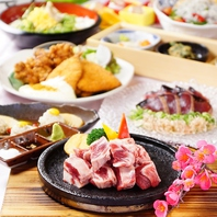 自慢の料理をしっかり楽しめる宴会メニューも豊富!