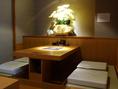店内はテーブル席、掘りごたつ個室が充実。プライベートな空間で贅沢ふぐを心ゆくまでご堪能下さい。郡山でふぐを愉しむなら【ふく家】