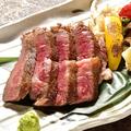 料理メニュー写真黒毛和牛・サーロインステーキ