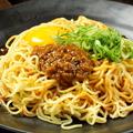 料理メニュー写真明太きしめんカルボ/冷製汁なし担担麺/石焼ビビンバ/特製オムライス 各