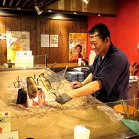 ◆たら福自慢のいろり焼き◆肉、魚等をご用意