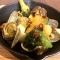 料理メニュー写真浅利とブロッコリーのスパイスソテー