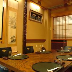 3階の小個室。ちょっとした会議や5名様程のご宴会に。落ち着いた雰囲気が老舗の味を醸し出しています。