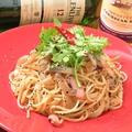 料理メニュー写真パクチーと塩辛のスパゲッティ