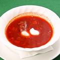 料理メニュー写真ボルシチ スープ