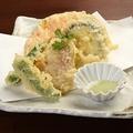 料理メニュー写真旬野菜の天ぷら盛り合わせ