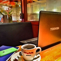 一人様のカフェ使いにもおすすめ【wifi&コンセント有】