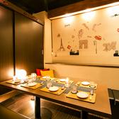 6~8名様までの個室は接待や飲み会,合コンにも最適な空間となっています!※店内写真はイメージです。