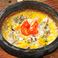農家のベーコンの石焼チーズリゾット