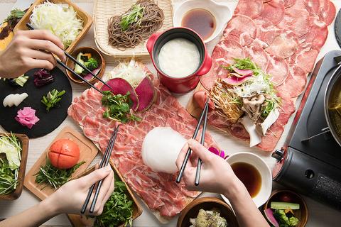 フォトジェ肉なしゃぶしゃぶ専門店!ヘルシーなラム肉と牛タンを思う存分♪