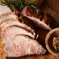料理メニュー写真国産もち豚ロース肉のジューシー ローストポーク
