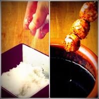 素材の「味」を引き立てるこだわりの「塩・タレ」